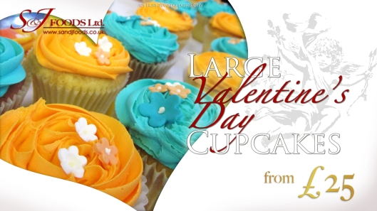 Large Valentine's Day Cupcakes from 25 GBP (ends 7th February 2012)